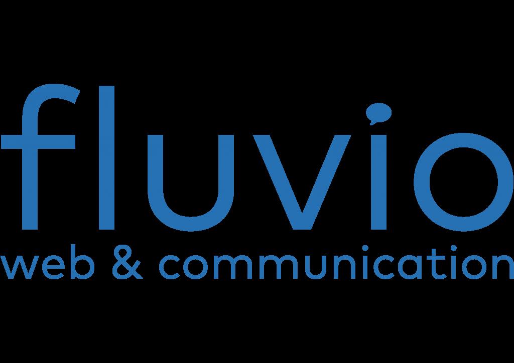 logo fluvio blauw met tekst